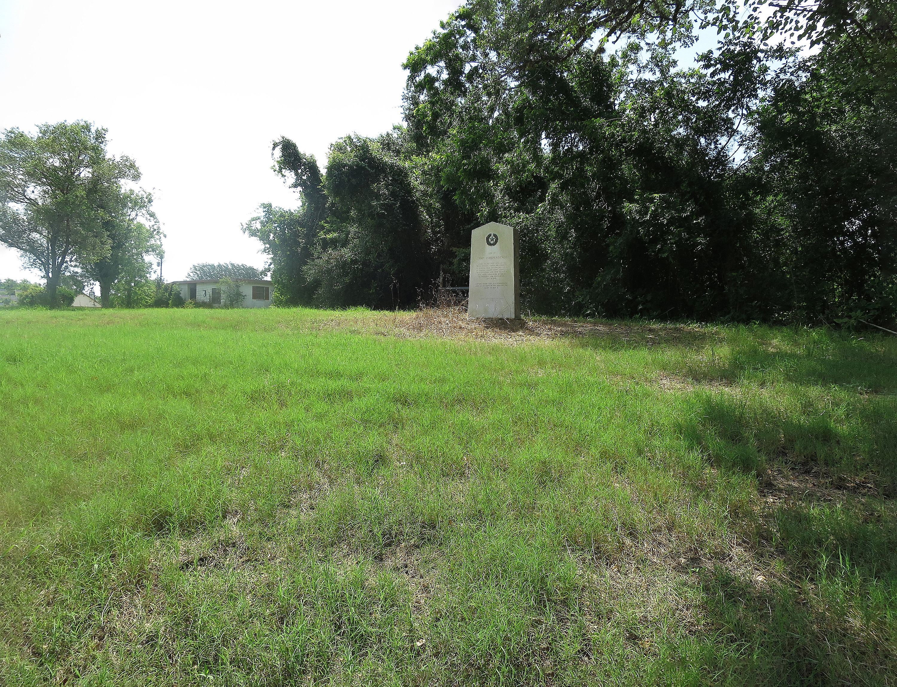 Site of Camp Independence Marker