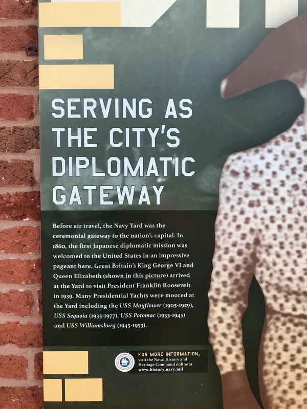 Serving as the City's Diplomatic Gateway Historical Marker