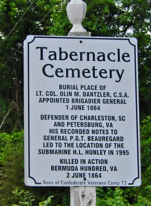 Tabernacle Cemetery Marker image. Click for full size.