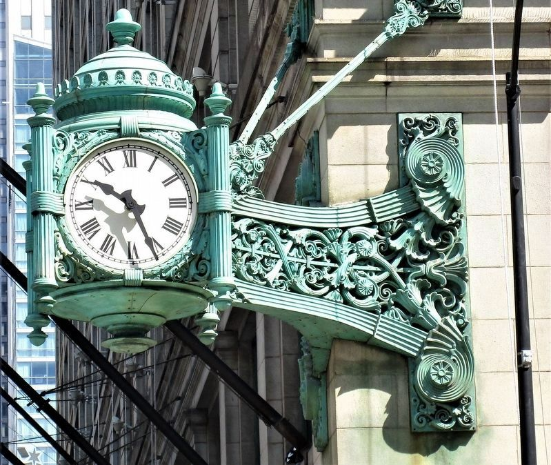 Marshall Field and Company Clock image. Click for full size.