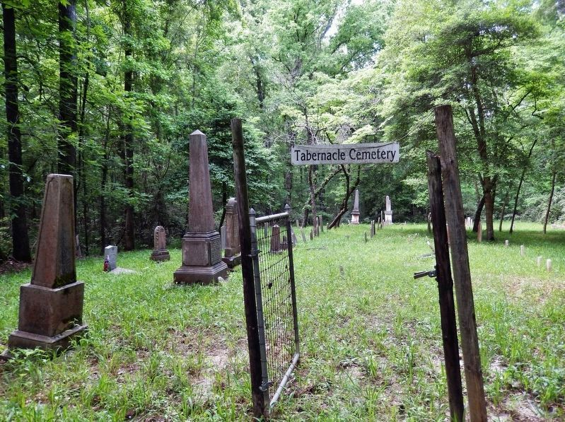 Tabernacle Cemetery Gate<br>(<i>100 yards northeast of marker on unimproved dirt road</i>) image. Click for full size.
