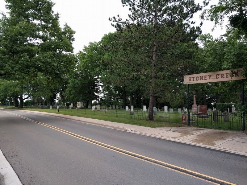 Stony Creek Cemetery and Marker image. Click for full size.