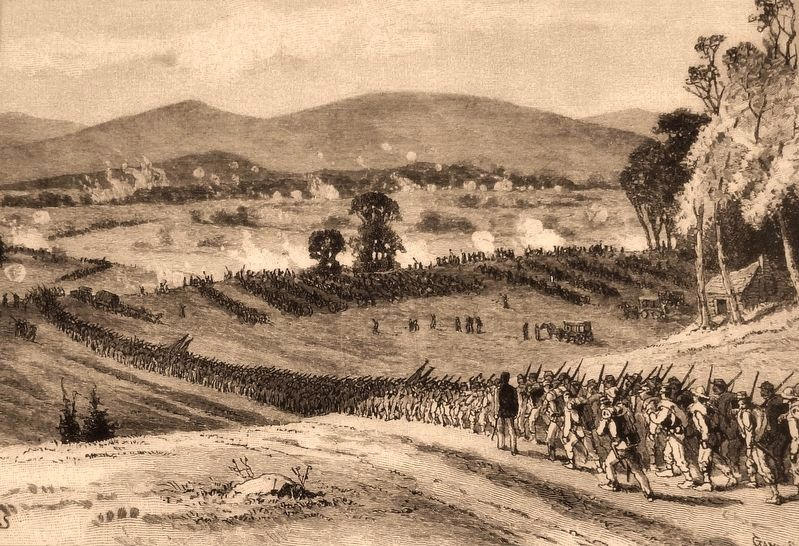 Marker detail: Battle of Cross Keys image. Click for full size.