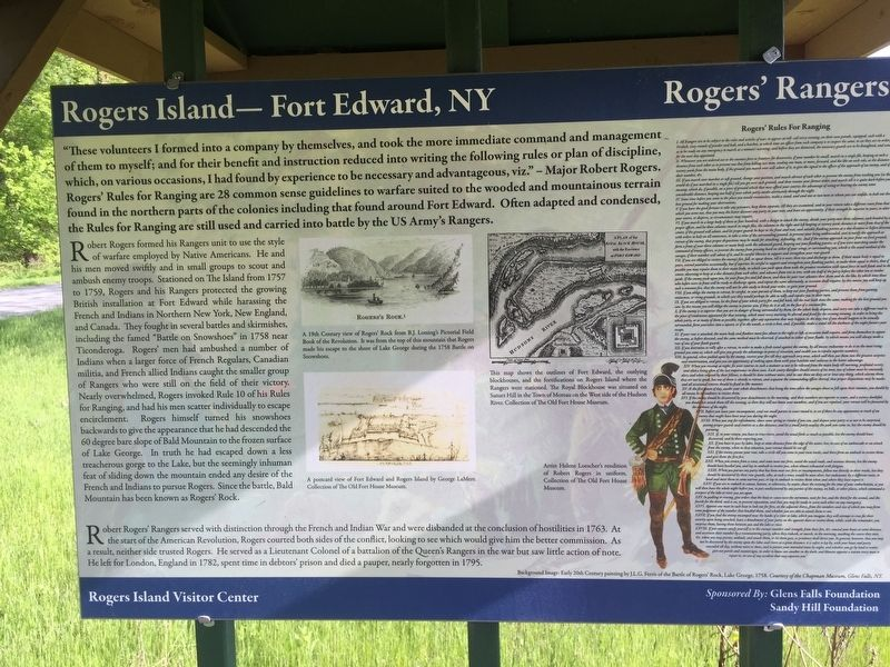 Rogers Island -- Fort Edward, NY Marker image. Click for full size.