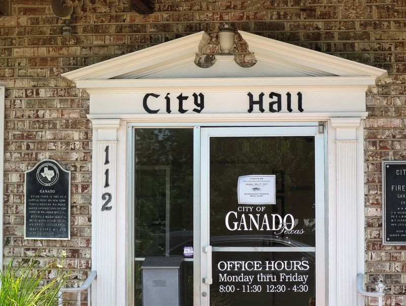 Ganado City Hall & Marker image. Click for full size.