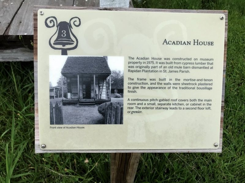 Acadian House Marker image. Click for full size.