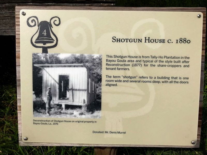 Shotgun House Marker image. Click for full size.
