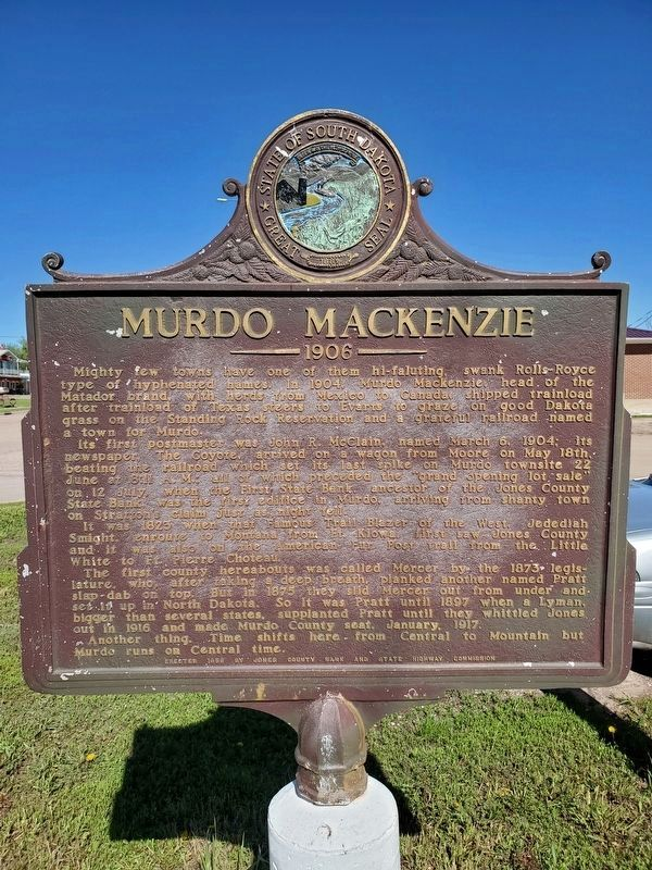 Murdo Mackenzie Marker West Face image, Touch for more information