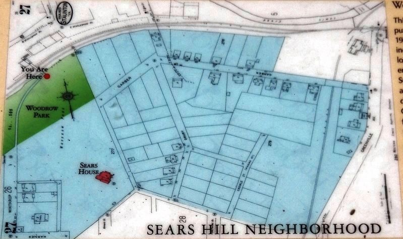 Marker detail: Staunton, Va. Sanborn Map from March 1929 image. Click for full size.