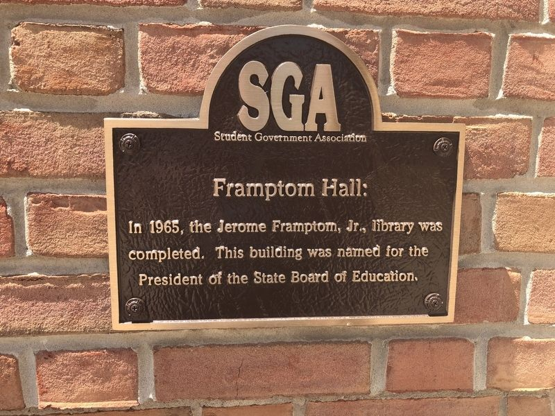 Frampton Hall Marker image. Click for full size.