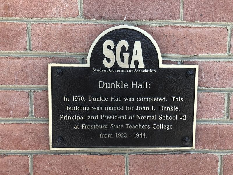 Dunkle Hall Marker image. Click for full size.