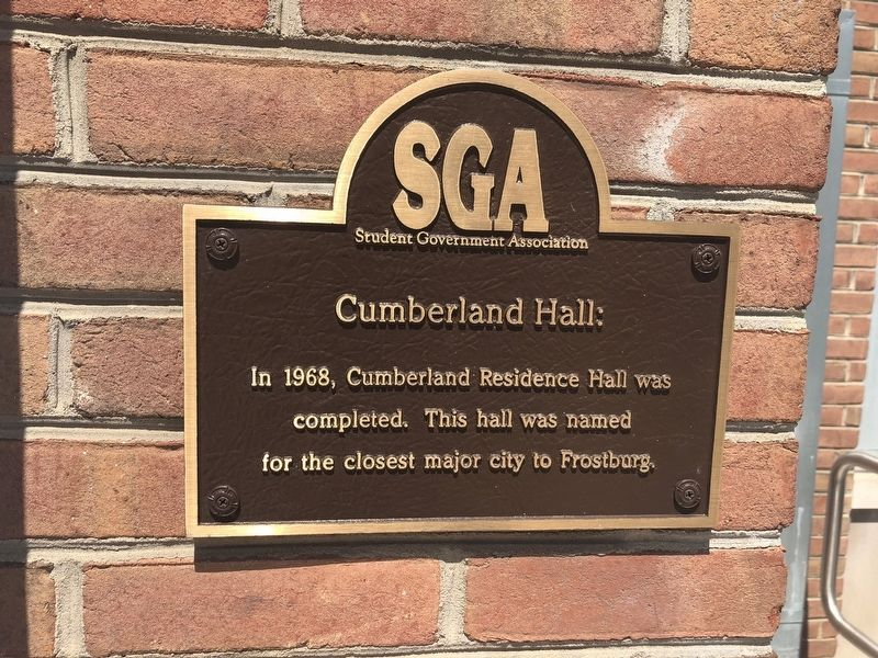 Cumberland Hall Marker image. Click for full size.