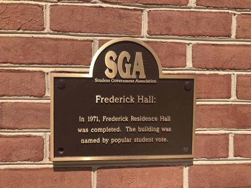 Frederick Hall Marker image. Click for full size.
