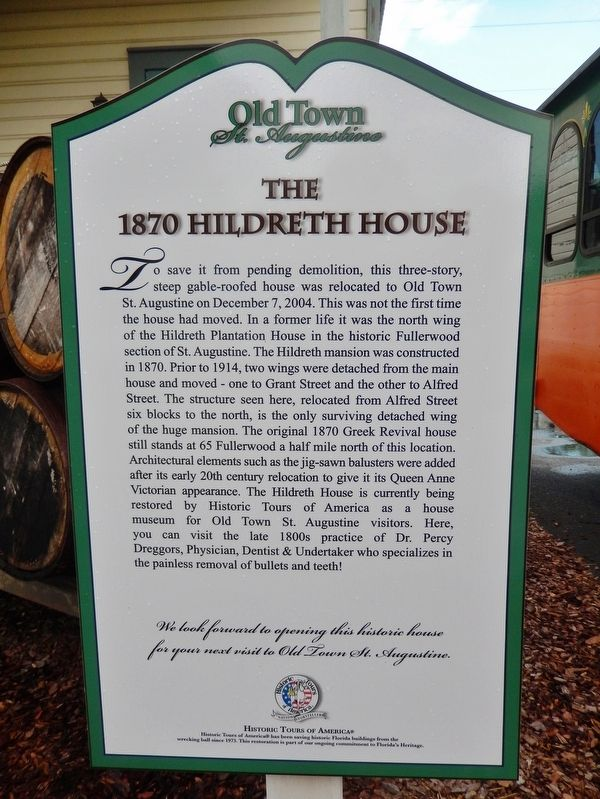 The 1870 Hildreth House Marker image. Click for full size.