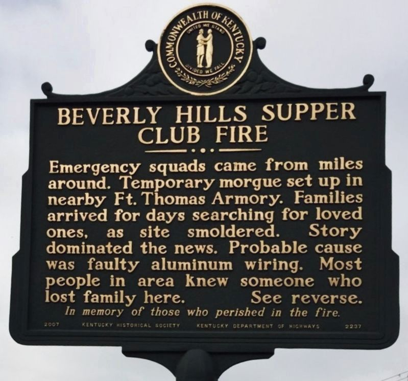 Beverly Hills Supper Club Marker image. Click for full size.