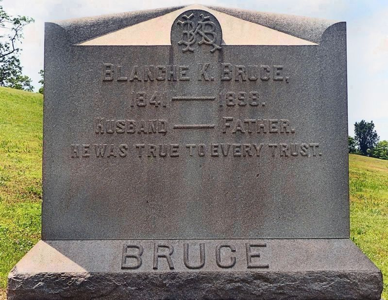 Blanche K. Bruce's Headstone<br>in Woodlawn Cemetery<br>Benning Ridge, SE Washington image. Click for full size.