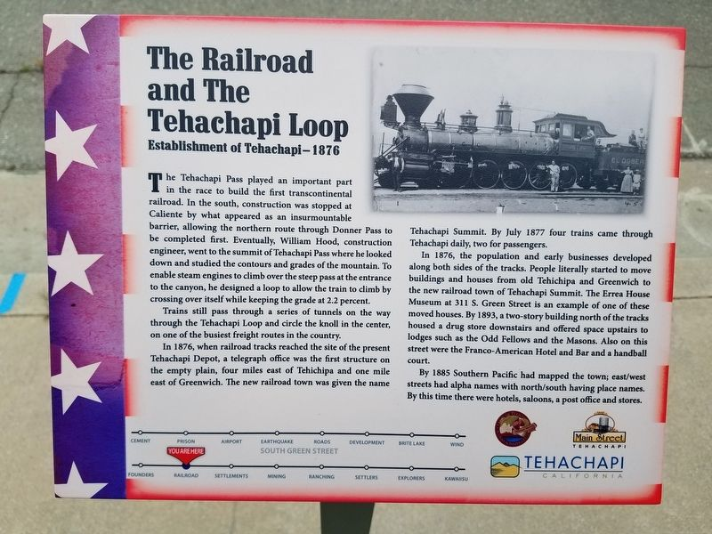 The Railroad and the Tehachapi Loop Marker image. Click for full size.