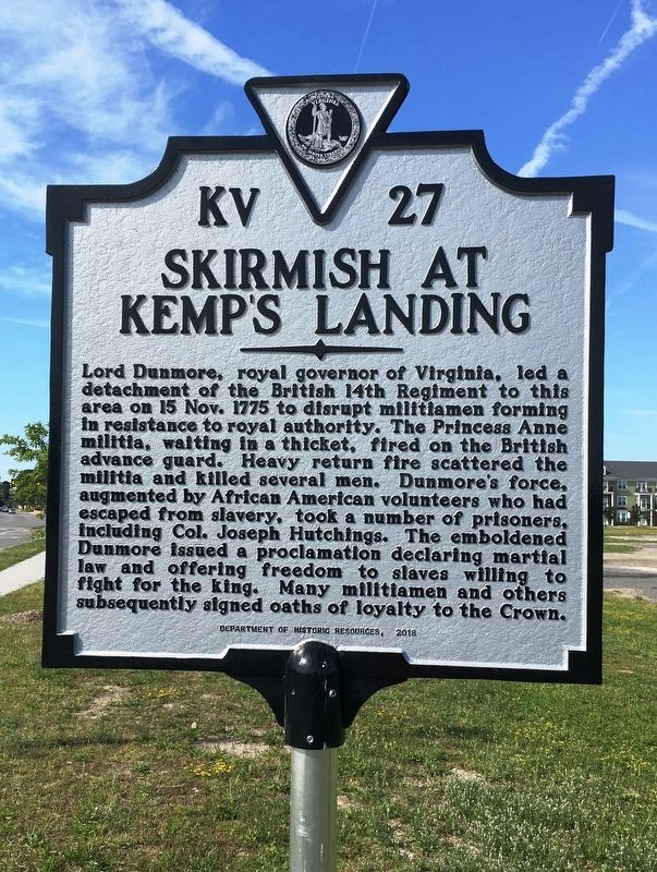 Skirmish at Kemp's Landing Marker image. Click for full size.