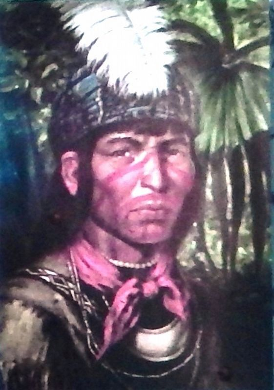 Marker detail: Seminole Chief Coacoochee image. Click for full size.
