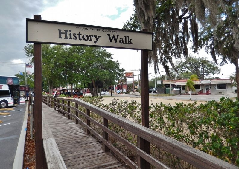 Turn of the Century History Walk<br>(<i>access marker along this walkway</i>) image. Click for full size.