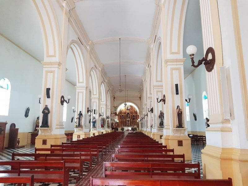 An interior view of the Cathedral of Jinotega image. Click for full size.