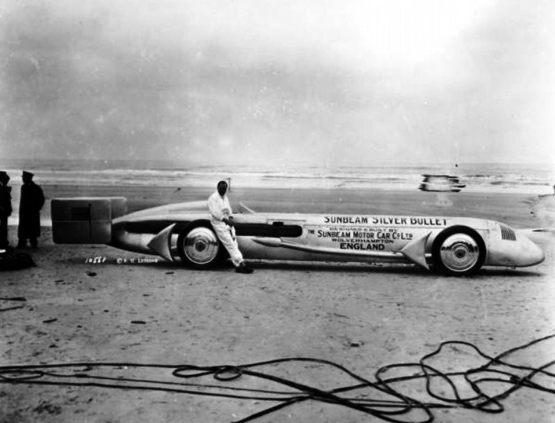 "Kaye Don and the ""Sunbeam Silver Bullet"" image. Click for full size."