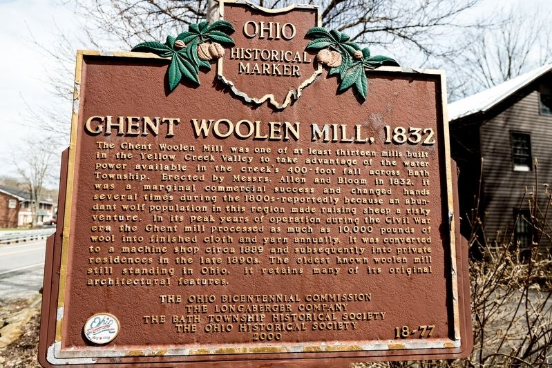 Ghent Woolen Mill Marker image. Click for full size.