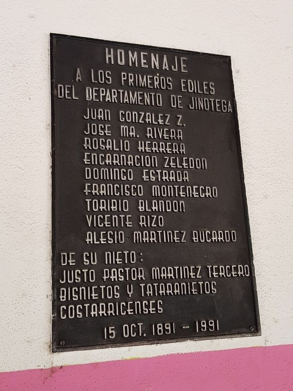 First Leaders of Jinotega Marker image. Click for full size.