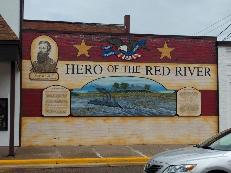 Hero of the Red River Mural image. Click for full size.