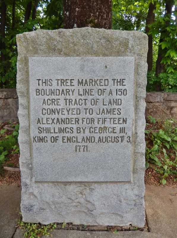 James Alexander Tract Boundary Marker image. Click for full size.