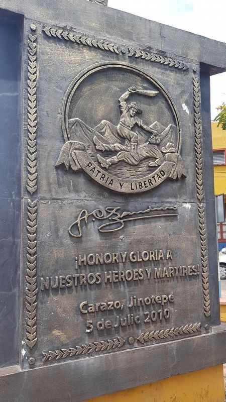 Monument to Nicaraguan Revolutions Marker image. Click for full size.