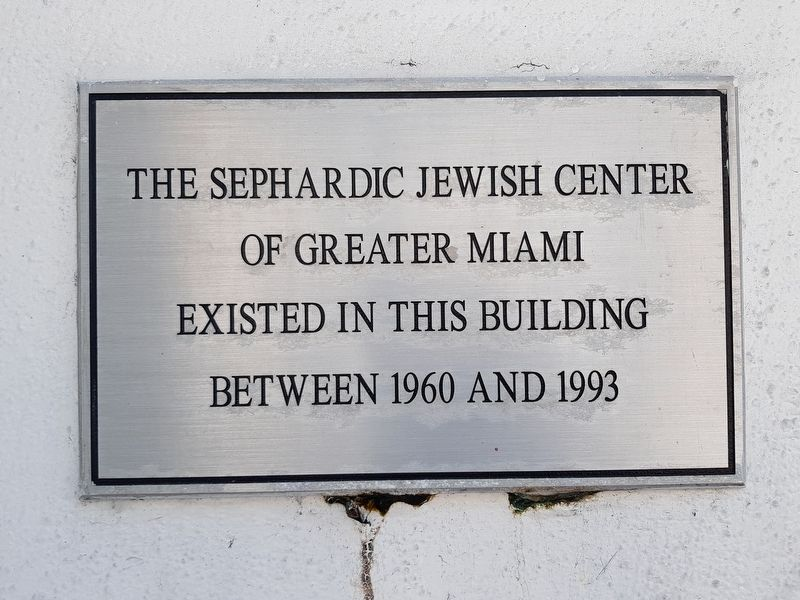 The Sephardic Jewish Center Marker image. Click for full size.