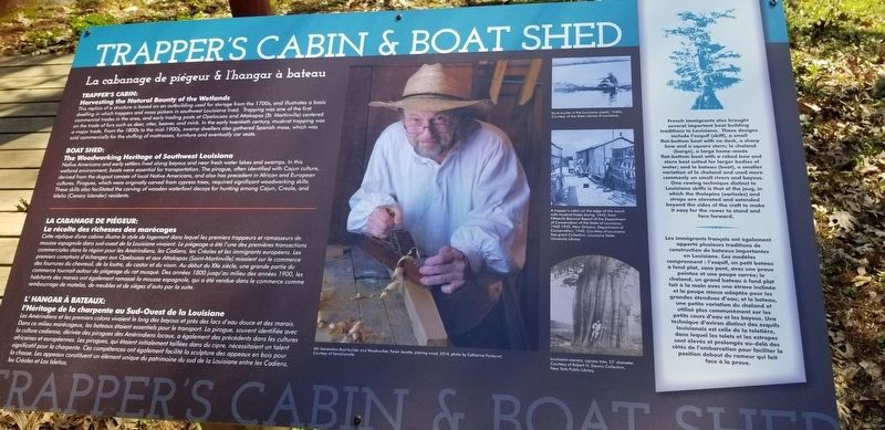 Trappers Cabin & Boat Shed Marker image. Click for full size.
