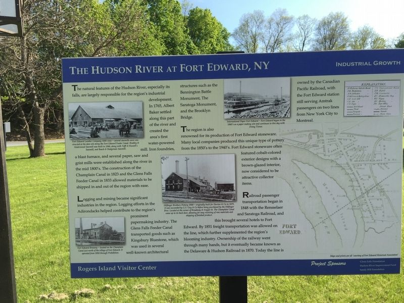 The Hudson River at Fort Edward, NY Marker image. Click for full size.