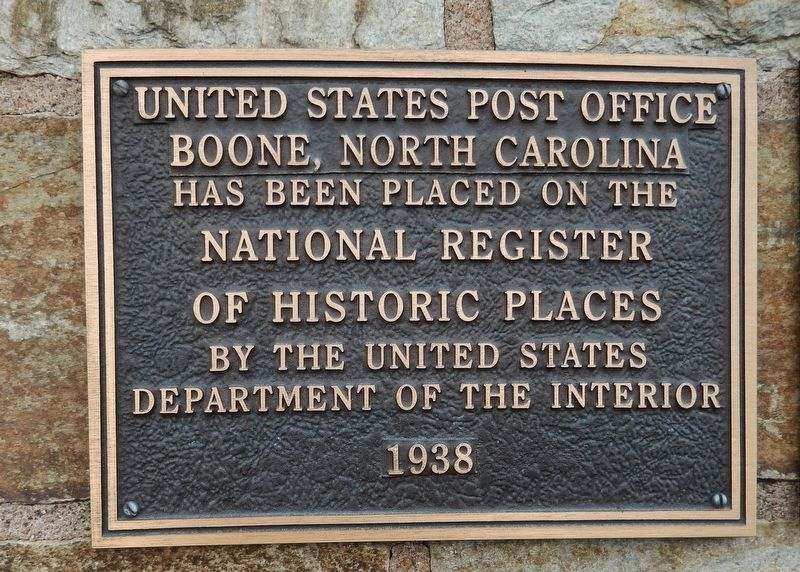 Boone, North Carolina Post Office Marker image. Click for full size.
