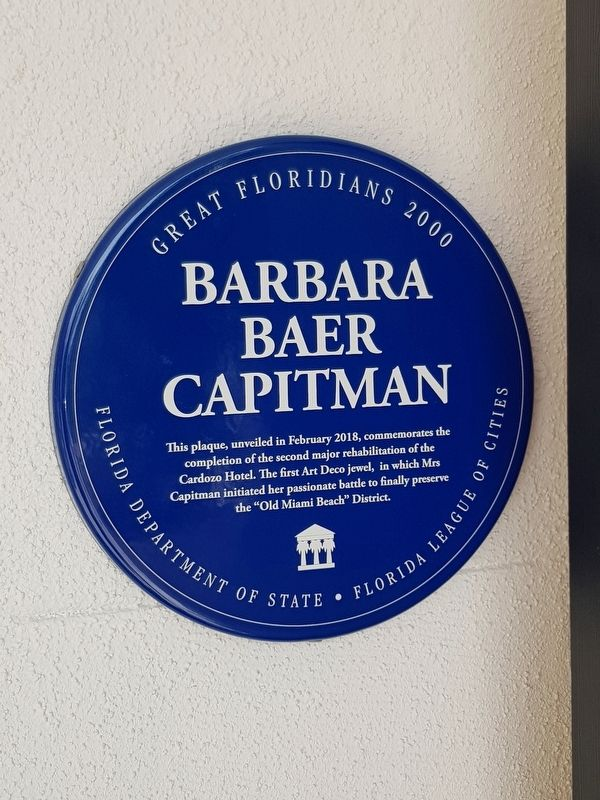 Barbara Baer Capitman Marker image. Click for full size.