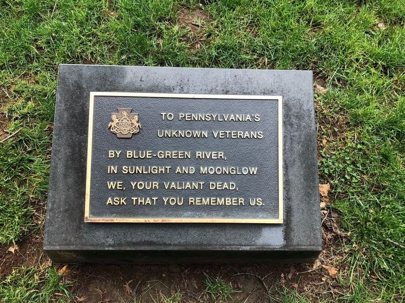 To Pennsylvania's Unknown Veterans image. Click for full size.