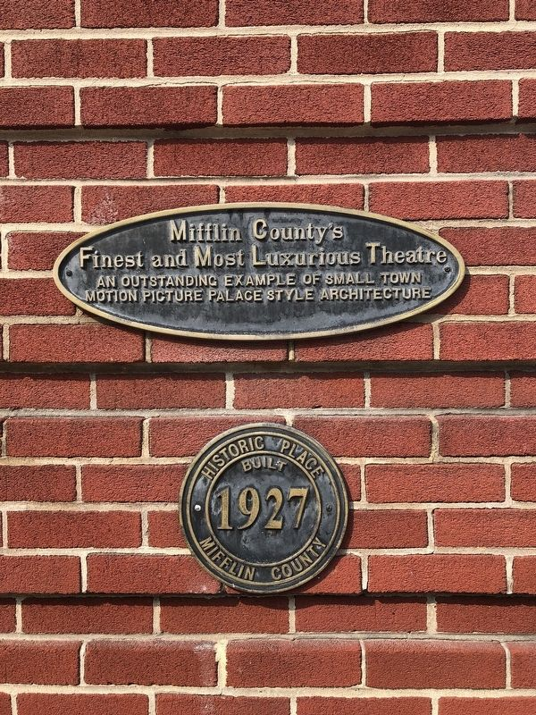 Mifflin County's Finest and Most Luxurious Theatre Marker image. Click for full size.