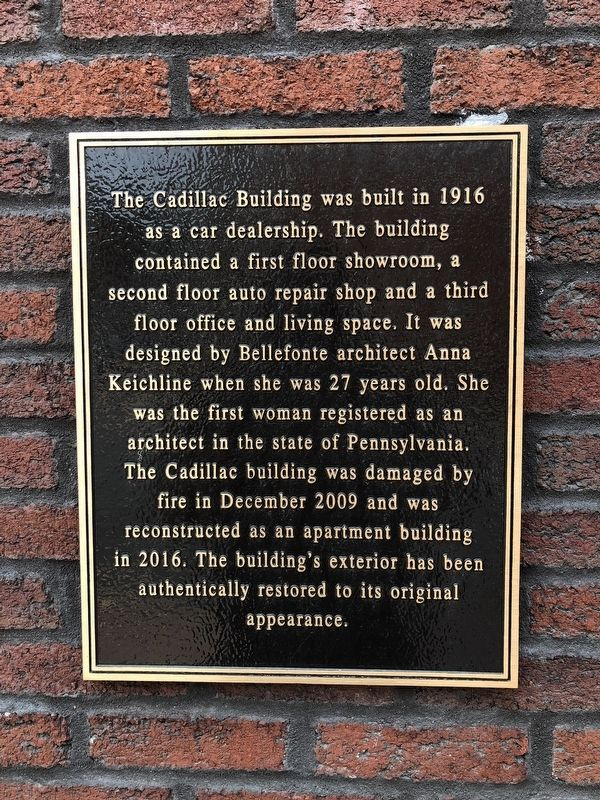 The Cadillac Building Marker image. Click for full size.