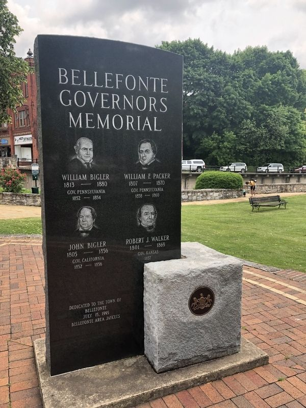 Bellefonte Governors Memorial [Reverse] image. Click for full size.