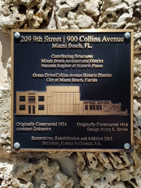 209 9th Street / 900 Collins Avenue Marker image. Click for full size.