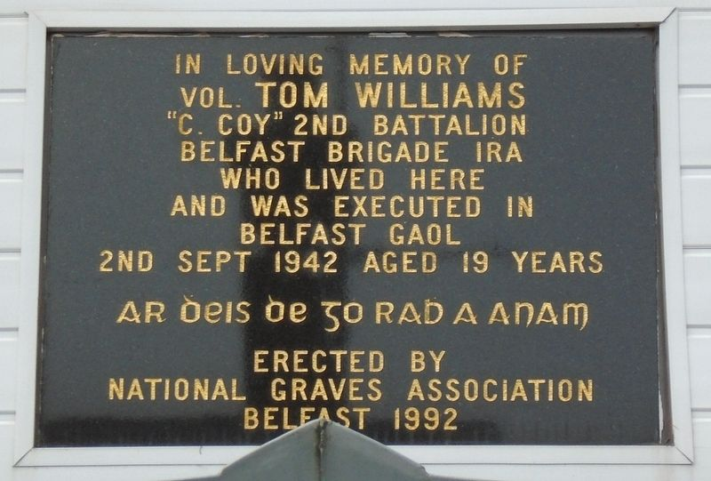Vol. Tom Williams Marker image. Click for full size.