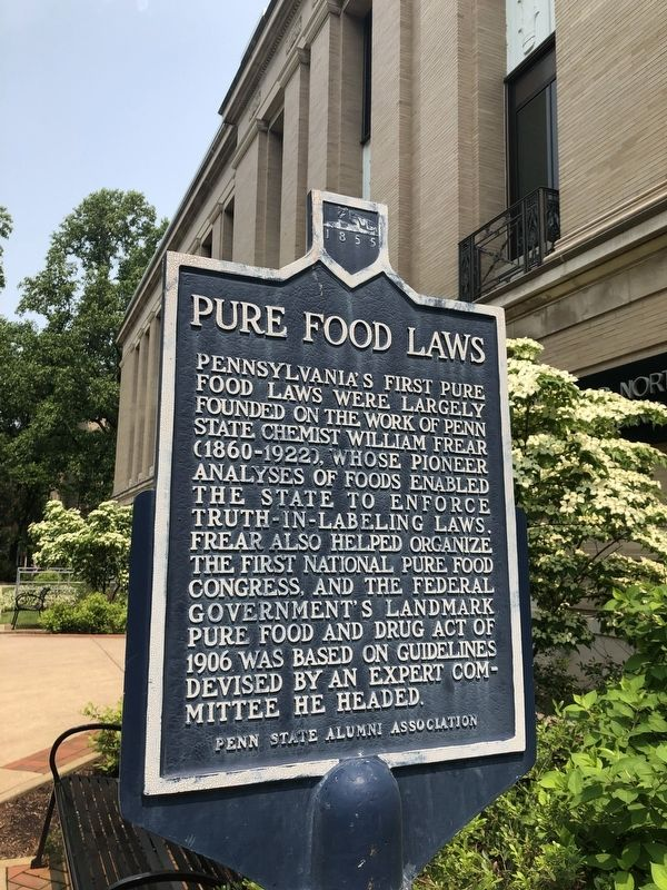 Pure Food Laws Marker image. Click for full size.