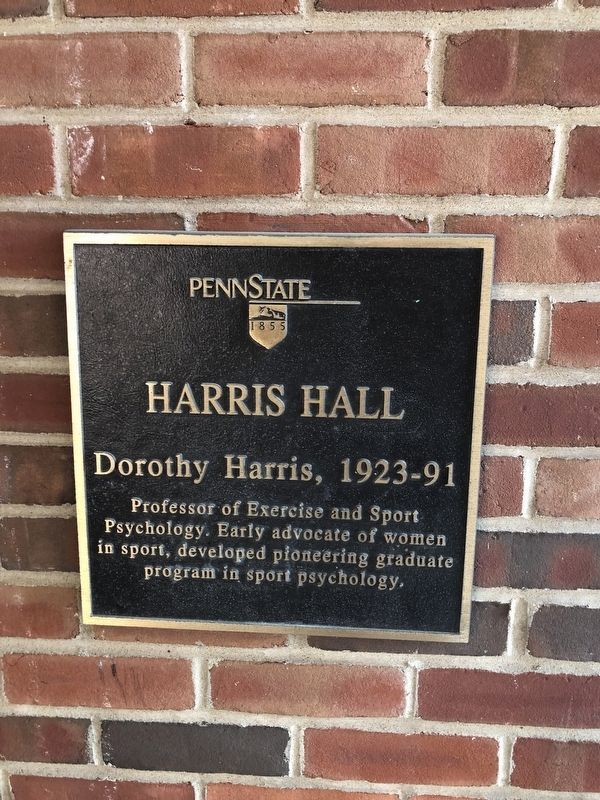 Harris Hall Marker image. Click for full size.