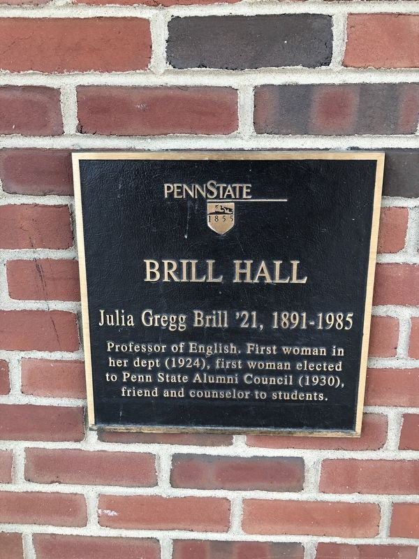 Brill Hall Marker image. Click for full size.