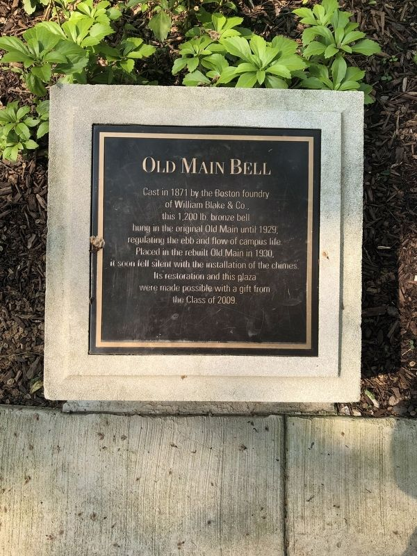 Old Main Bell Marker image. Click for full size.
