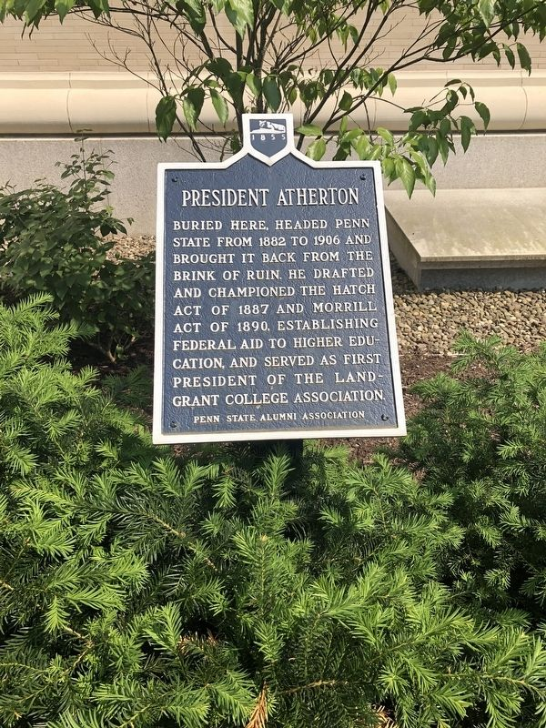 President Atherton Marker image. Click for full size.