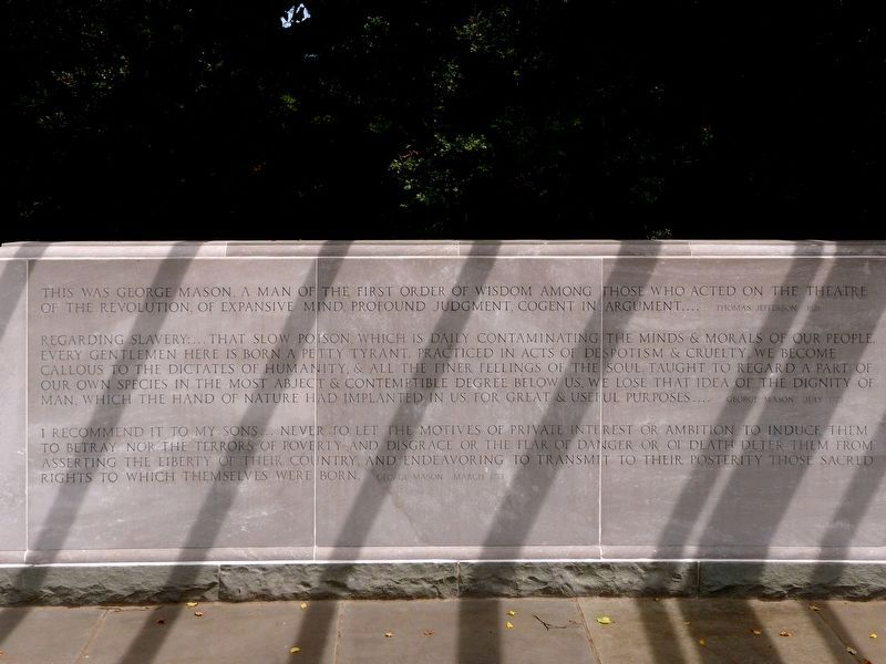Left Panel<br>George Mason Memorial image. Click for full size.
