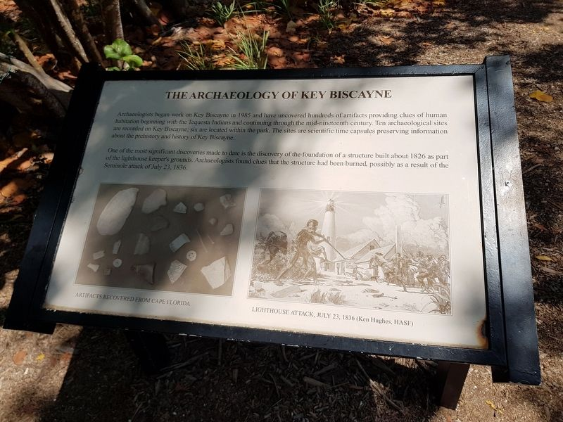 The Archaeology of Key Biscayne Marker image. Click for full size.