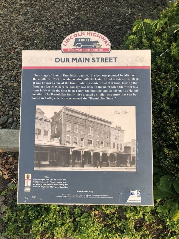 Our Main Street Marker image. Click for full size.